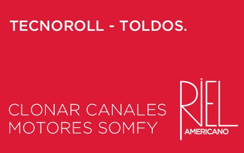 Clonar Canales en Motores Somfy.